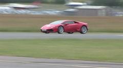 Lamborghini Huracan on track Stock Footage
