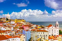 Alfama Lisbon Cityscape Stock Photos