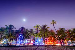 South Beach Miami - stock photo