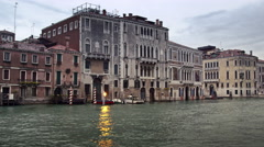 A quiet day on the Grand Canal waterfront. Stock Footage