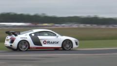Audi R8 on track Stock Footage
