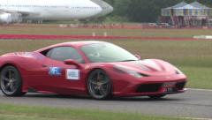 Ferrari 458 speciale on track Stock Footage