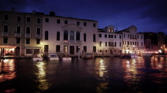 Sped-up footage of Grand Canal at dusk Stock Footage