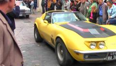 American Car at American Festival, Loches, Loire Valley, France Stock Footage