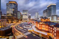 Marunouchi District Tokyo Cityscape Stock Photos