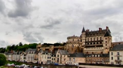 Amboise and Chateau, Loire Valley, France Stock Footage