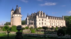 Chenonceau Chateau front, Loire Valley, France Stock Footage