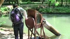 Leonardo da Vinci invention, Clos Lucey Chateau, France Stock Footage