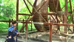 Leonardo da Vinci invention model, Clos Lucey Chateau, France - stock footage