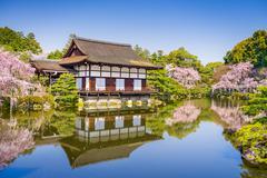 Spring at Heian Shrine - stock photo