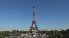 Tour Eiffel France Symbol French Architecture Tower Parisian Sightseeing Tourism Stock Footage