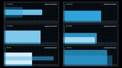 Six-panel visual display Stock Footage
