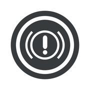 Stock Illustration of Round black alert sign