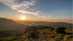 Cretan mountains sunset Stock Footage