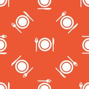 Orange dishware pattern Stock Illustration