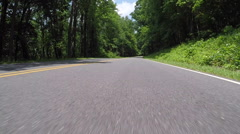 Driving first person view Stock Footage