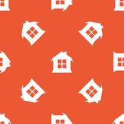Orange house pattern - stock illustration