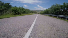 POV camera of car ride on crimean coastal road between Alushta and Sudak Stock Footage