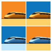 speed train - stock illustration