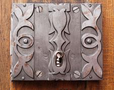 Stock Photo of Old barroque door lock