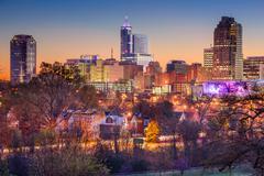 Raleigh Skyline Stock Photos