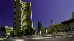 Bucharest, Romania July, 2015: Rush Hour In University Square, Zoom In Stock Footage