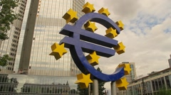 European Central Bank Headquarters Stock Footage