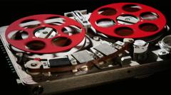 Retro Audio Tape Recorder ws black 8 Stock Footage