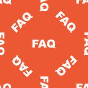 Stock Illustration of Orange FAQ pattern