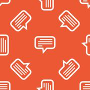 Orange text message pattern Stock Illustration