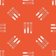 Orange test-tubes pattern - stock illustration