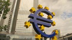 European Central Bank, Frankfurt, Germany Stock Footage