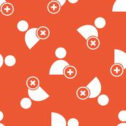 Orange add user pattern - stock illustration