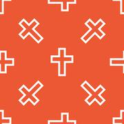 Stock Illustration of Orange christian cross pattern