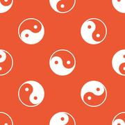 Orange ying yang pattern Stock Illustration