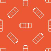 Orange empty battery pattern Stock Illustration