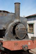Steam Locomotive at the Humberstone Saltpeter Works - stock photo