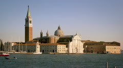 Static shot of the island of San Giorgio from across the canal. Stock Footage