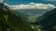 Interlaken village and valley summer landscape 4K Stock Footage