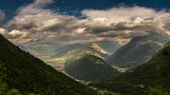 Rhone alps Switzerland valley and forest time lapse 4K Stock Footage