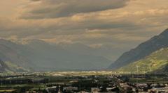 Matigny city Rhone valley Alps Stock Footage