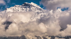 Jungfrau mountain peak covered in clouds time lapse Switzerland Stock Footage