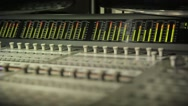 Stock Video Footage of Digital Sound Mixer In The Studio