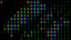 Closeup of pixel array on LCD monitor Stock Footage