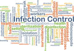 Infection control background concept Stock Illustration
