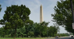 Establishing Shot of Washington Monument in the Daytime Stock Footage