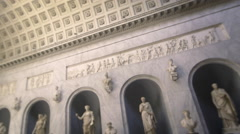 Pan of statues in the New Wing Stock Footage