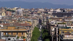 Footage of a domed building in Rome Stock Footage
