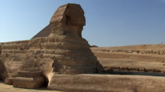 Sphinx at the Pyramids of Giza Stock Footage