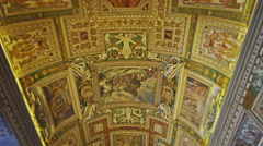 Tracking ceiling of Gallery of Maps Stock Footage